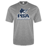 Performance Grey Heather Contender Tee-PBA Sailfish Stacked