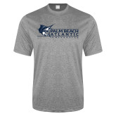 Performance Grey Heather Contender Tee-Palm Beach Atlantic University