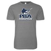 Next Level SoftStyle Heather Grey T Shirt-PBA Sailfish Stacked