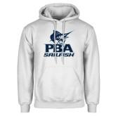 White Fleece Hood-PBA Sailfish Stacked