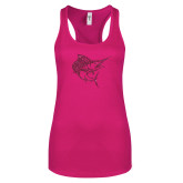 Next Level Ladies Raspberry Ideal Racerback Tank-Sailfish