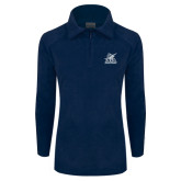 Columbia Ladies Half Zip Navy Fleece Jacket-PBA Sailfish Stacked