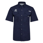 Columbia Bonehead Navy Short Sleeve Shirt-PBA Sailfish Stacked