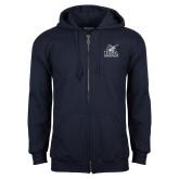 Navy Fleece Full Zip Hood-PBA Sailfish Stacked