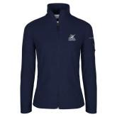 Columbia Ladies Full Zip Navy Fleece Jacket-PBA Sailfish Stacked