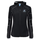 Columbia Ladies Sweet As Softshell Black Jacket-PBA Sailfish Stacked