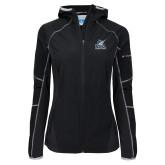 Columbia Ladies Sweet As Black Hooded Jacket-PBA Sailfish Stacked