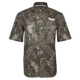 Camo Short Sleeve Performance Fishing Shirt-Primary Mark Tone