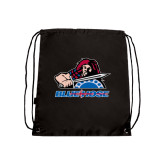 Nylon Black Drawstring Backpack-Mascot