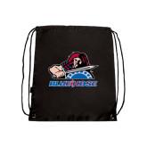Nylon Black Drawstring Backpack-Mascot