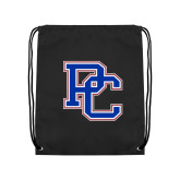 College Black Drawstring Backpack-PC