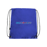 Nylon Royal Drawstring Backpack-Blue Hose