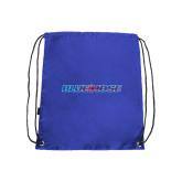 Nylon Royal Drawstring Backpack-Blue Hose