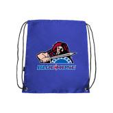 Nylon Royal Drawstring Backpack-Mascot