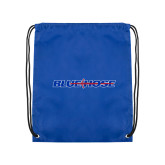 College Royal Drawstring Backpack-Blue Hose
