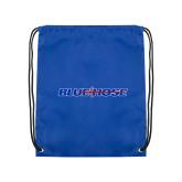 College Royal Drawstring Backpack-Blue Hose