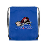 College Royal Drawstring Backpack-Mascot
