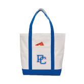 Contender White/Royal Canvas Tote-PC