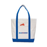 Contender White/Royal Canvas Tote-Blue Hose
