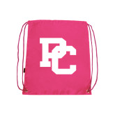 Nylon Pink Drawstring Backpack-PC