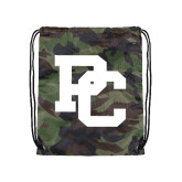 Nylon Camo Drawstring Backpack-PC