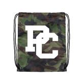 Nylon Camo Drawstring Backpack-PC