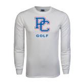 White Long Sleeve T Shirt-Golf