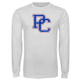 White Long Sleeve T Shirt-PC Distressed
