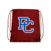 Nylon Cardinal Drawstring Backpack-PC