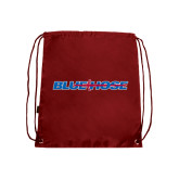 Nylon Cardinal Drawstring Backpack-Blue Hose