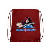 Nylon Cardinal Drawstring Backpack-Mascot