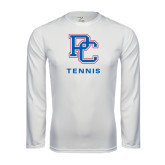 Syntrel Performance White Longsleeve Shirt-Tennis