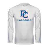 Syntrel Performance White Longsleeve Shirt-Lacrosse