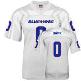 College Replica White Adult Football Jersey-Personalized