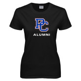College Ladies Black T Shirt-Alumni