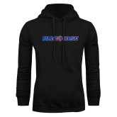 Black Fleece Hood-Blue Hose