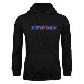 College Black Fleece Hoodie-Blue Hose