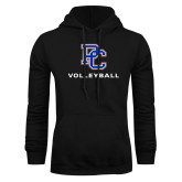 College Black Fleece Hoodie-Volleyball
