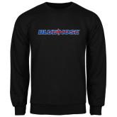 Black Fleece Crew-Blue Hose