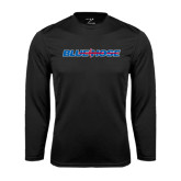 Syntrel Performance Black Longsleeve Shirt-Blue Hose