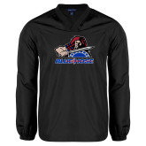 V Neck Black Raglan Windshirt-Mascot
