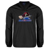 College V Neck Black Raglan Windshirt-Mascot