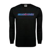 Black Long Sleeve TShirt-Blue Hose