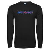 Presbyterian Black Long Sleeve T Shirt-Blue Hose