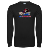 Presbyterian Black Long Sleeve T Shirt-Mascot