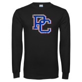 Presbyterian Black Long Sleeve T Shirt-PC Distressed