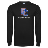 Presbyterian Black Long Sleeve T Shirt-Football