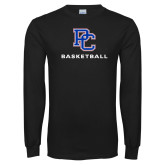 Presbyterian Black Long Sleeve T Shirt-Basketball