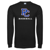 Presbyterian Black Long Sleeve T Shirt-Baseball