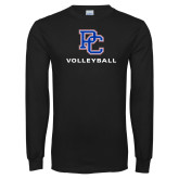 Presbyterian Black Long Sleeve T Shirt-Volleyball